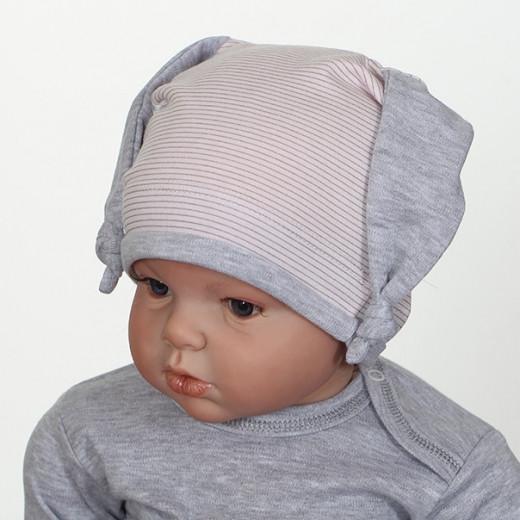 Medvilninė kepuryė kūdikiui rožinė VILAURITA 738