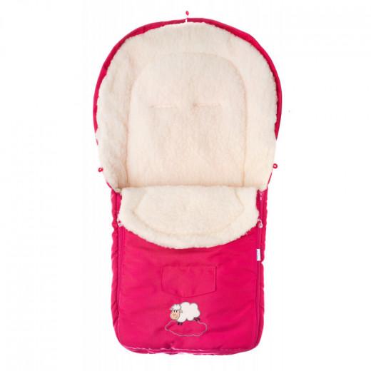 Sensillo vokelis vežimėliui, vilnonis, 95x40, raudonas, 827