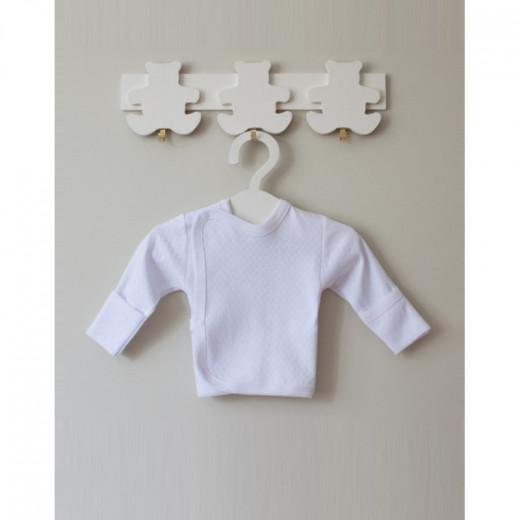 Medvilninis siaustinukas kūdikiui 62 cm baltas VILAURITA 104