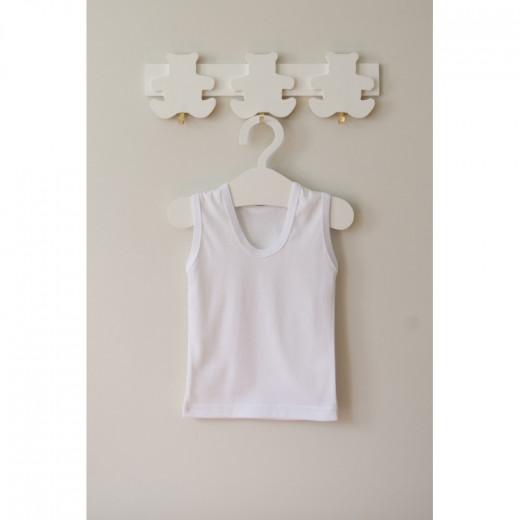 Medvilniniai marškinėliai kūdikiui balti VILAURITA 112