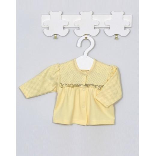 Medvilniniai marškinėliai kūdikiui LUKA geltoni Vilaurita 336 AKC