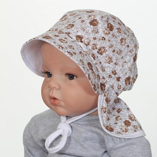 Medvilninė kepurė kūdikiui su raišteliais VILAURITA 743