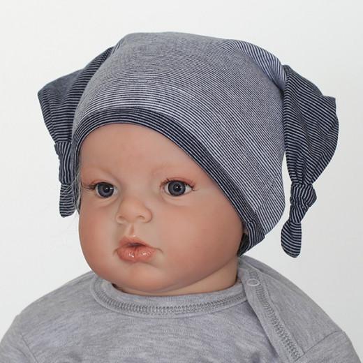 Medvilninė kepuryė kūdikiui mėlyna VILAURITA 739