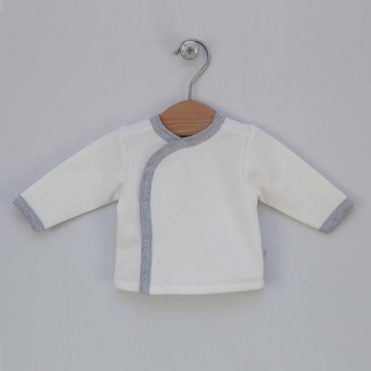 Šilti marškinėliai kūdikiui PERLA balti VILAURITA 114
