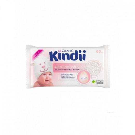 Drėgnos  kūdikių servetėlės 60 vnt  Ultra Sensitive CLEANIC
