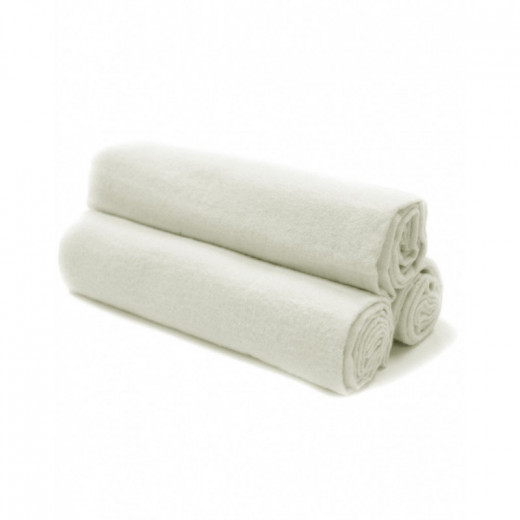 100% medvilnės flanelinis vystyklas 80x70cm baltas 1 vnt. V1003