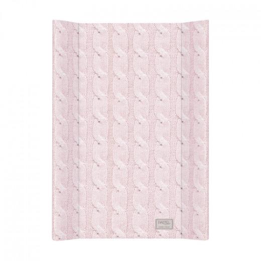 Vystymo lenta PASTEL megzta raštais – rožinė, 70 cm
