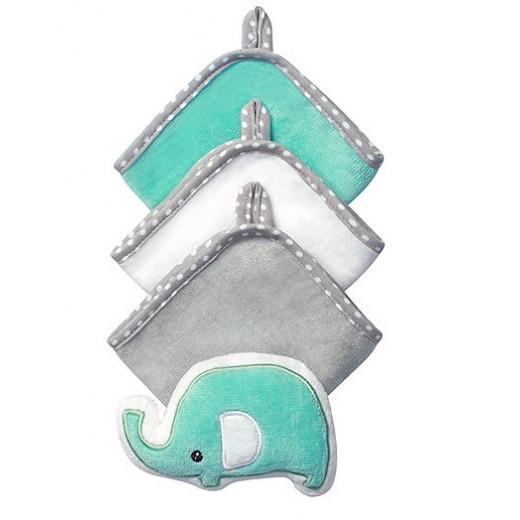 Plaušinių ir kempinės rinkinys drambliukas BabyOno 143