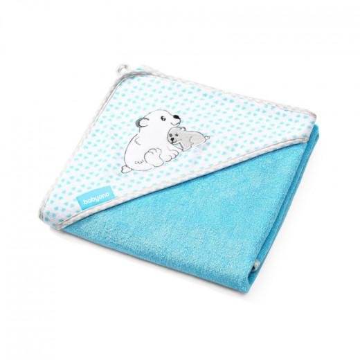 BabyOno rankšluostis su gobtuvu bambukinis 100x100 mėlynas