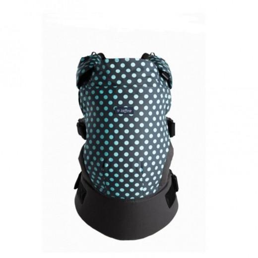 Zaffiro nešioklė ergonominė, pilkas, mėtiniai taškiukai, Care