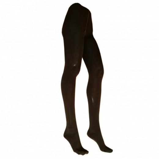 Šiltos tamsiai rudos pėdkelnės su 50% vilna moterims 24995