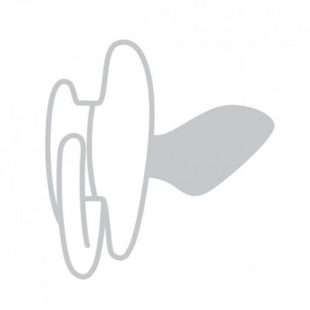 BabyOno  čiulptukas silikoninis, anatominis, 3-6 m, 2 vnt., pilkas, 1226/02