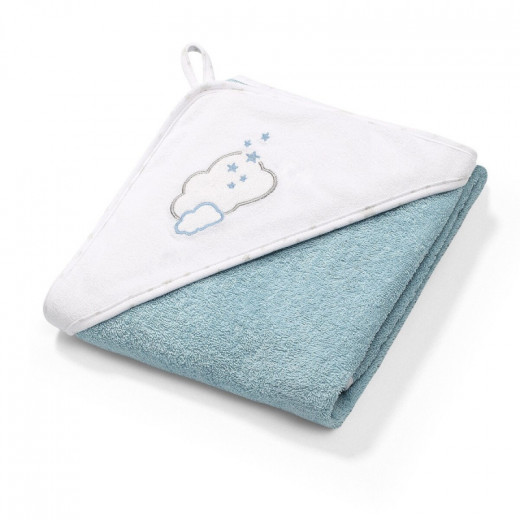 BabyOno rankšluostis su gobtuvu frotinis 76x76, mėlynas TERRY, 141/09
