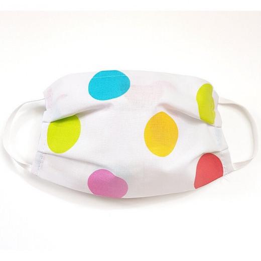 MamoTato vaikiška kaukė su kišene filtrui, gumytės, spalvoti - taškiukai