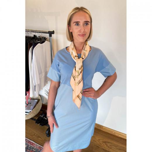 Omniteksas Švies. mėlyna moteriška suknelė