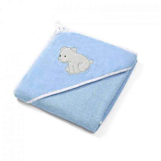 BabyOno rankšluostis su gobtuvu veliūras 100x100 mėlynas, koala, 540/04