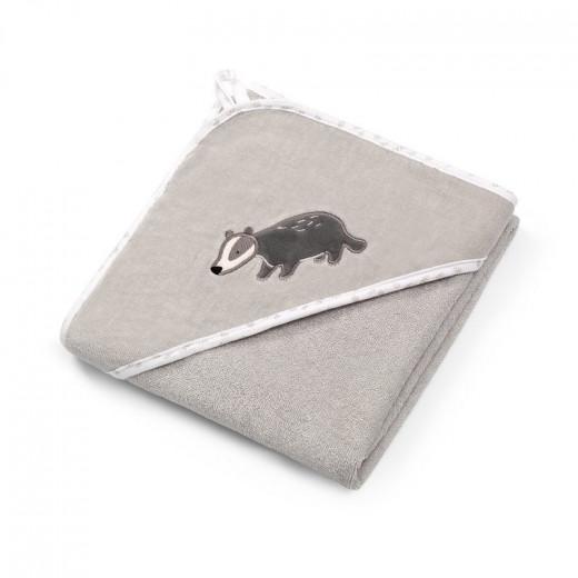 BabyOno rankšluostis su gobtuvu veliūras 100x100 pilkas, 540/02