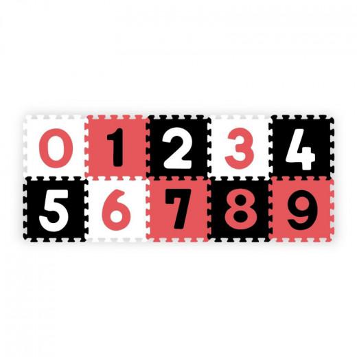 BabyOno lavinamoji dėlionė skaičiai, raudona, 10 vnt., 274/04