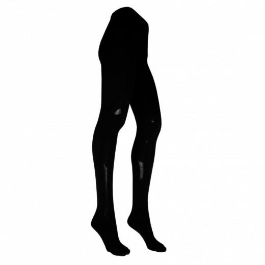 Šiltos 50% merino vilnos juodos pėdkelnės moterims 24995